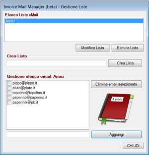 Multi eMail Sender (ver Beta) - Gestione Liste - dadica.net Software