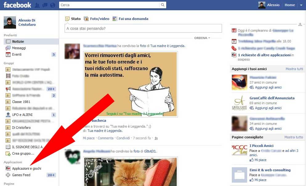 Facebook bloccare Applicazione (1) - dadica.net