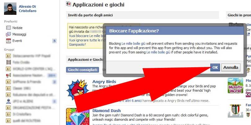 Facebook bloccare Applicazione (5) - dadica.net