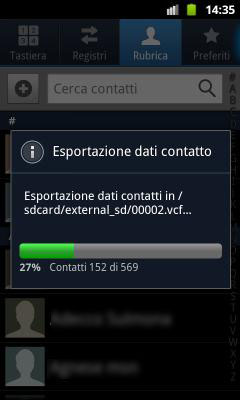 BackUp Rubrica Android Passo 4