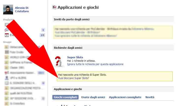 Facebook bloccare Richieste (3) - dadica.net