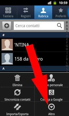 Android Nascondere Contatti della Sim