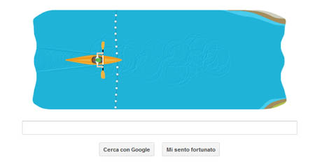 Doodle Google Olimpiadi Londra - Canoa Slalom