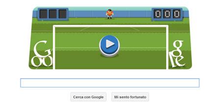 Doodle Google Olimpiadi Londra - Soccer