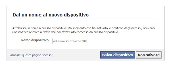 Notifica Accesso - Facebook