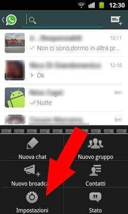 WhatsApp - Controllo scadenza Passo 1